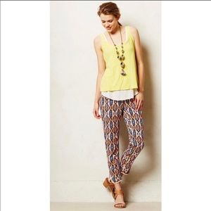 Anthropologie Pilcro & the letter press Ikat pants